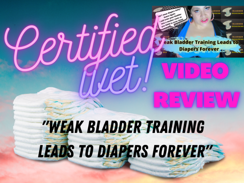adult diaper video review