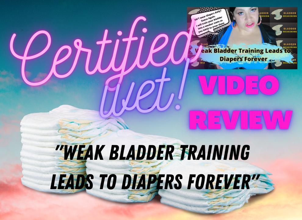 adult diaper video review